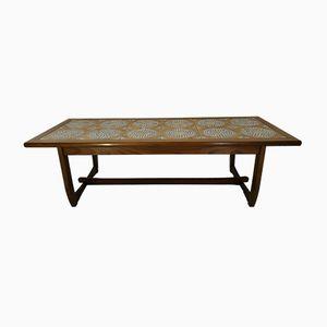 Table Basse en Bois et Carreaux en Céramique, 1960s