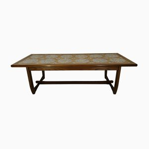 Wood and Ceramic Tile Coffee Table, 1960s