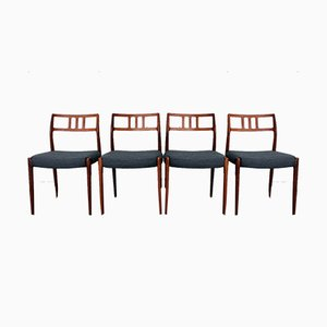 No. 79 Dining Chairs by Niels O. Møller for J.L. Møllers, 1960s, Set of 4
