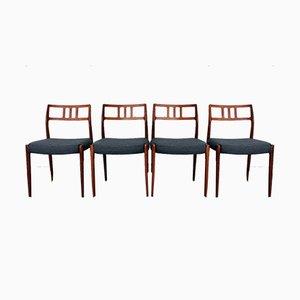 Nr. 79 Esszimmerstühle von Niels O. Møller für J.L. Møllers, 1960er, 4er Set