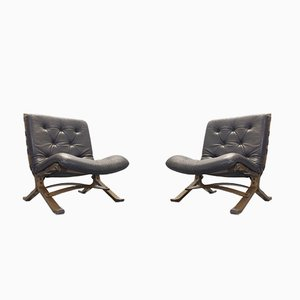 Siesta Lounge Chairs by Ingmar Relling for Westnofa, 1970s, Set of 2