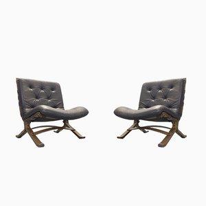 Siesta Sessel von Ingmar Relling für Westnofa, 1970er, 2er Set