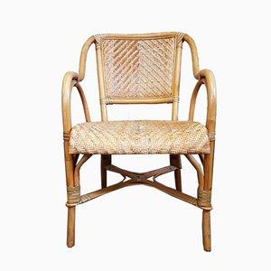 Vintage Peacock Stuhl aus Korbgeflecht, 1980er