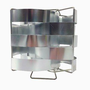Lampada da tavolo in alluminio di Max Sauze, anni '70