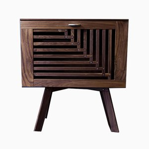 Space Between Space Rising Walnut Drinks Cabinet by Azmy Anything