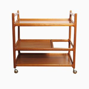 Teak Serving Trolley by Johannes Andersen for CFC Silkeborg, 1960s