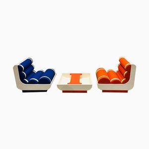 Space Age French Living Room Set, 1970s