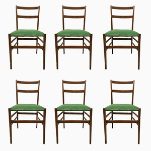 Italian Superleggera Dining Chairs by Gio Ponti for Cassina, 1960s, Set of 6