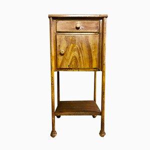 Table de Chevet Industrielle Vintage en Métal