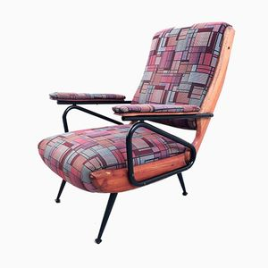 Vintage Italian Reclining Lounge Chair, 1950s