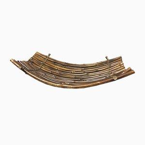 Vintage Obstschale oder Zeitschriftenständer aus Bambus