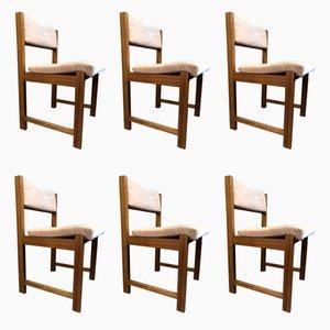 Mid-Century Esszimmerstühle aus Teak, 1970er, 6er Set