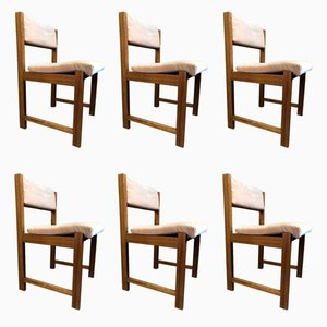 Mid-Century Teak Dining Chairs, 1970s, Set of 6