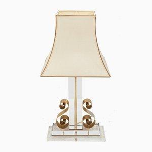Lampada da tavolo vintage in lucite, 1978
