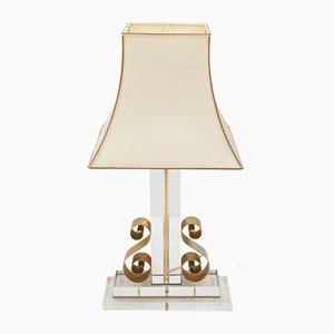 Vintage Lucite Table Lamp, 1978