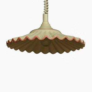 Lámpara colgante vintage de porcelana