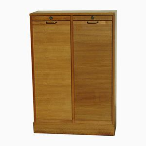 French Double Tambour Front Cabinet, 1950s