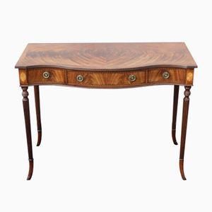 Three-Drawer Serpentine Walnut Side Table, 1960s