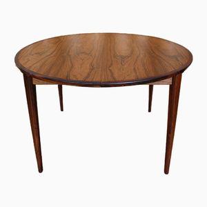 Rosewood Extending Dining Table by Henry Rosengren Hansen for Brande Mobelfabrik, 1950s
