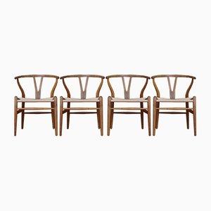 CH24 Wishbone Stühle aus Eiche von Hans Wegner für Carl Hansen, 1960er, 4er Set