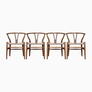 Oak CH24 Wishbone Chairs by Hans Wegner for Carl Hansen, 1960s, Set of 4