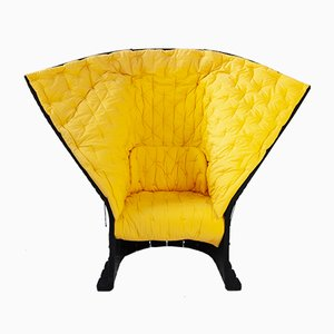 Model 357 Feltri Yellow Armchair by Gaetano Pesce for Cassina, 1987
