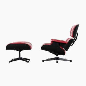 Sessel & Fußhocker von Charles Eames für Vitra, 2000