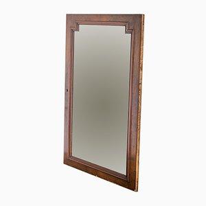 Französischer Spiegel mit Rahmen aus Nussholz, 1940er