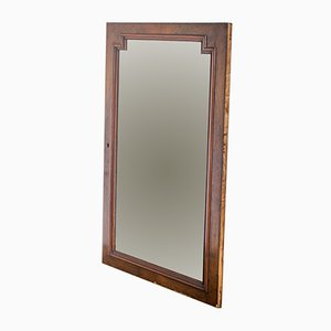 French Walnut Mirror, 1940s