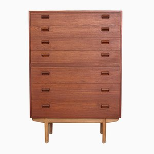Teak & Oak Chest of Drawers by Borge Mogensen for Soborg Mobelfabrik, 1950s