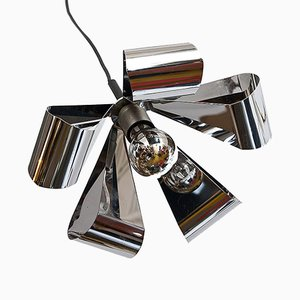Chromed Metal Ceiling Light from Raak, 1970s