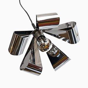 Lámpara de techo de metal cromado de Raak, años 70