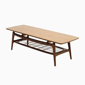 Sculptural Teak Coffee Table by Louis van Teeffelen for WéBé, 1950s