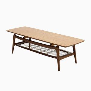 Tavolino da caffè scultoreo in teak di Louis van Teeffelen per WéBé, anni '50
