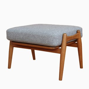 Vintage Oak Cigar Ottoman by Hans J. Wegner for Getama