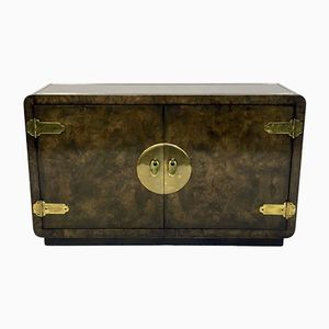 Vintage Burl and Brass Sideboard from Mastercraft