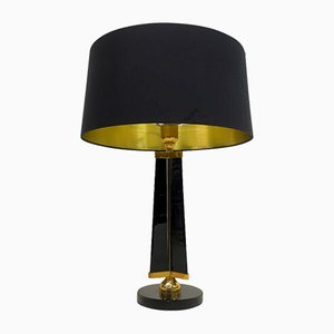 Mid-Century Brass and Glass Table Lamp from Stilnovo