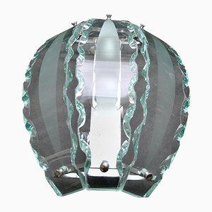 Wandleuchte aus handgeschliffenem Kristallglas von Seguso, 1950er