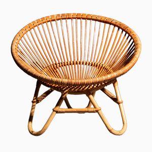 Italienischer Vintage Stuhl aus Rattan, 1960er