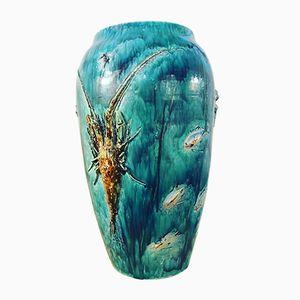 Vase en Céramique d'Albisola de Bianco, Italie, 1950s