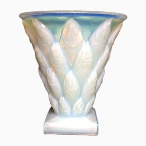 Vase Mid-Century en Verre Opalescent par Sabino Marius pour Sabino