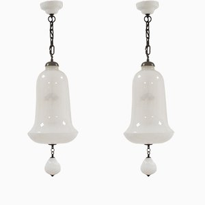 Murano Glass Pendants from Venini, Set of 2