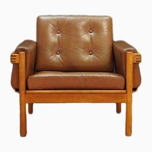 Dänischer Vintage Sessel aus Leder