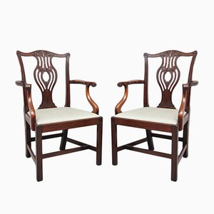 Chippendale Style Armchairs, 1920s, Set of 2
