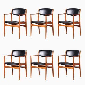 Chaises de Salle à Manger par Albin Johansson & Söner, Suède, 1960s, Set de 6