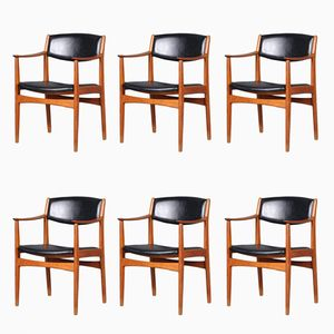 Swedish Dining Chairs by Albin Johansson & Söner, 1960s, Set of 6