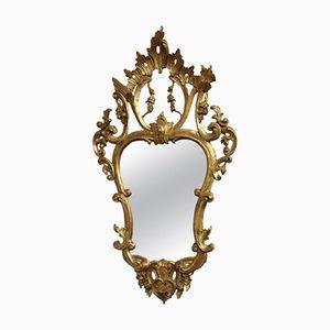 Specchio antico dorato ed intagliato, fine XIX secolo