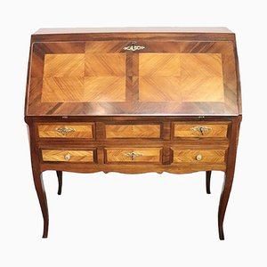 Antique Inlaid Walnut Secretaire, 1850s