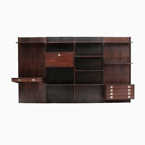 Mid-Century Italian Wall Unit with Desk from Stildomus, 1960s
