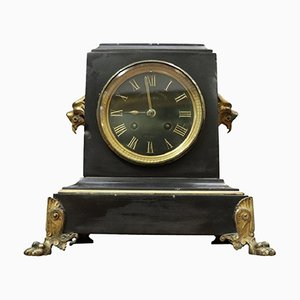 Antique Marble and Gilded Bronze Clock, 1880s